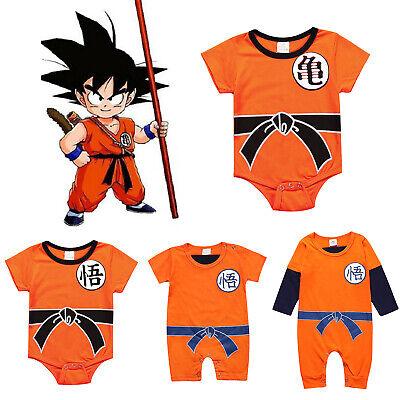 Dragon Ball Goku Baby Costume Newborn Infant Boy Clothes Romper Bodysuit Outfits - Child Goku Costume