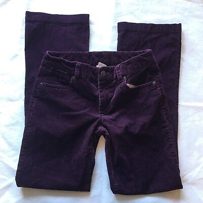 J Crew Womens Size 0 Short Favorite-fit stretch vintage bootcut cord Purple - Fit Bootcut Cord