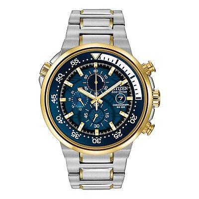 Citizen Eco-Drive Endeavor Men's Chronograph Gold-Tone 46mm Watch CA0444-50L