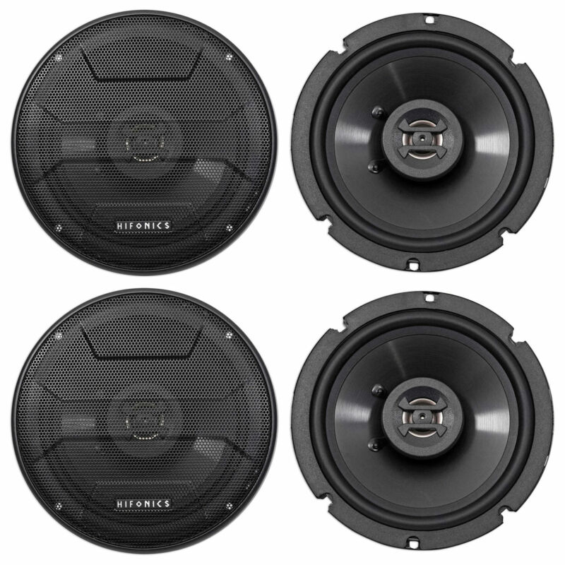 "(4) Hifonics ZS65CXS 6.5"" 1200 Watt Shallow Mount Car Stereo Speakers"