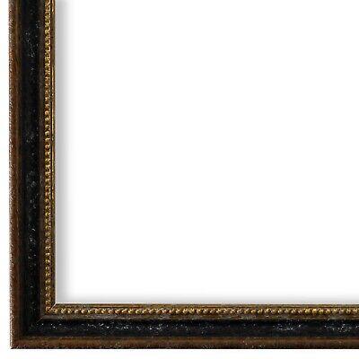 Bilderrahmen Schwarz Braun Gold Vintage Barock Holz Empoli 1,5 - NEU alle Größen