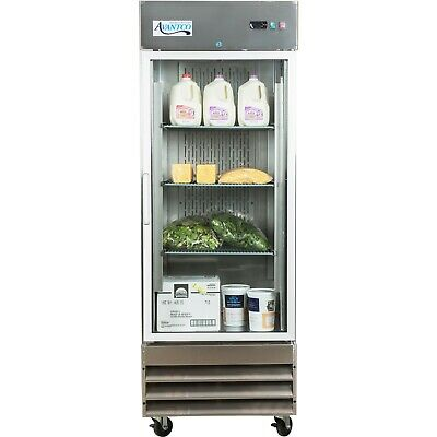 29 Stainless Steel Commercial Restaurant Glass Door Reach-in Refrigerator