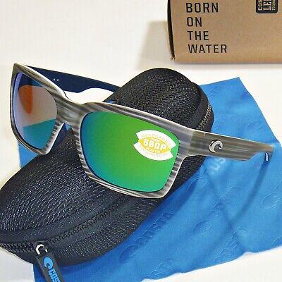 Costa Del Mar Playa Polarized Sunglasses - Silver Teak / Green Mirror 580P (Costa Playa Sunglasses)