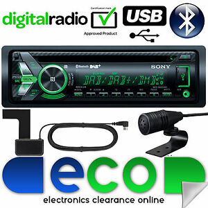 Radio-DAB-SONY-MEX-N6001BD-55x4W-Bluetooth-CD-MP3-USB-Automovil-Estereo-amp-Antena-REFURB