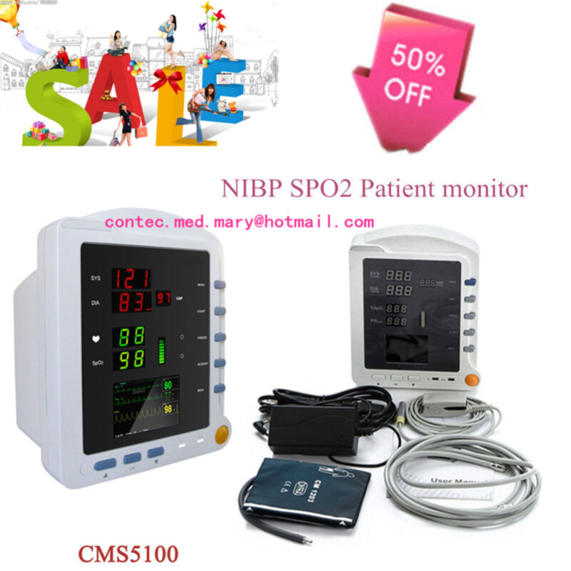 CE&FDA ICU Patient Monitor, Vital Signs Monitor Of NIBP,SPO2,Pulse Rate CMS5100