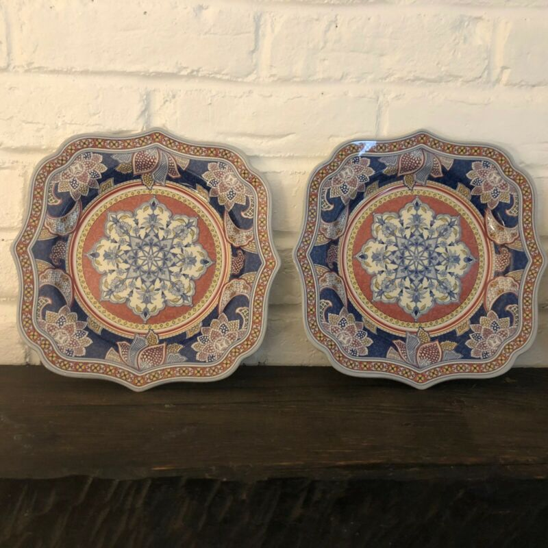 Kashmir By Spode 3 Luncheon Salad Plates
