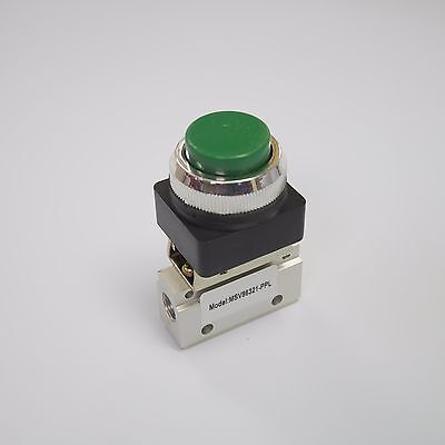 32 Way Pneumatic Valve With Raised Push Button In Green 18 Npt Msv86321ppl