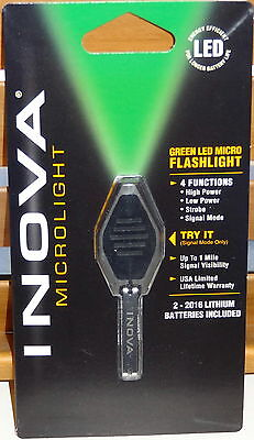 INOVA MICROLIGHT LED KEYCHAIN FLASHLIGHT COOL GREEN HUNTING CAMPING BACKPACK NEW