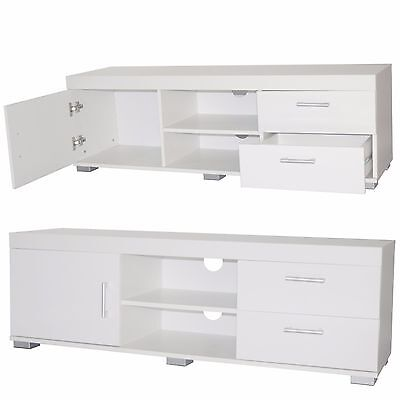 White High Gloss TV Cabinet Wooden Tv Stand Sideboard Furniture Storage Unit New