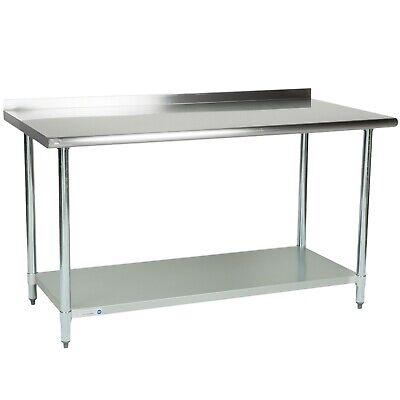 30 X 60 Stainless Steel Work Prep Table Undershelf Restaurant Backsplash Nsf