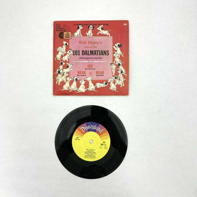 "101 DALMATIONS (1965) Disneyland Book & Record set 7"" 33-1/3rpm"