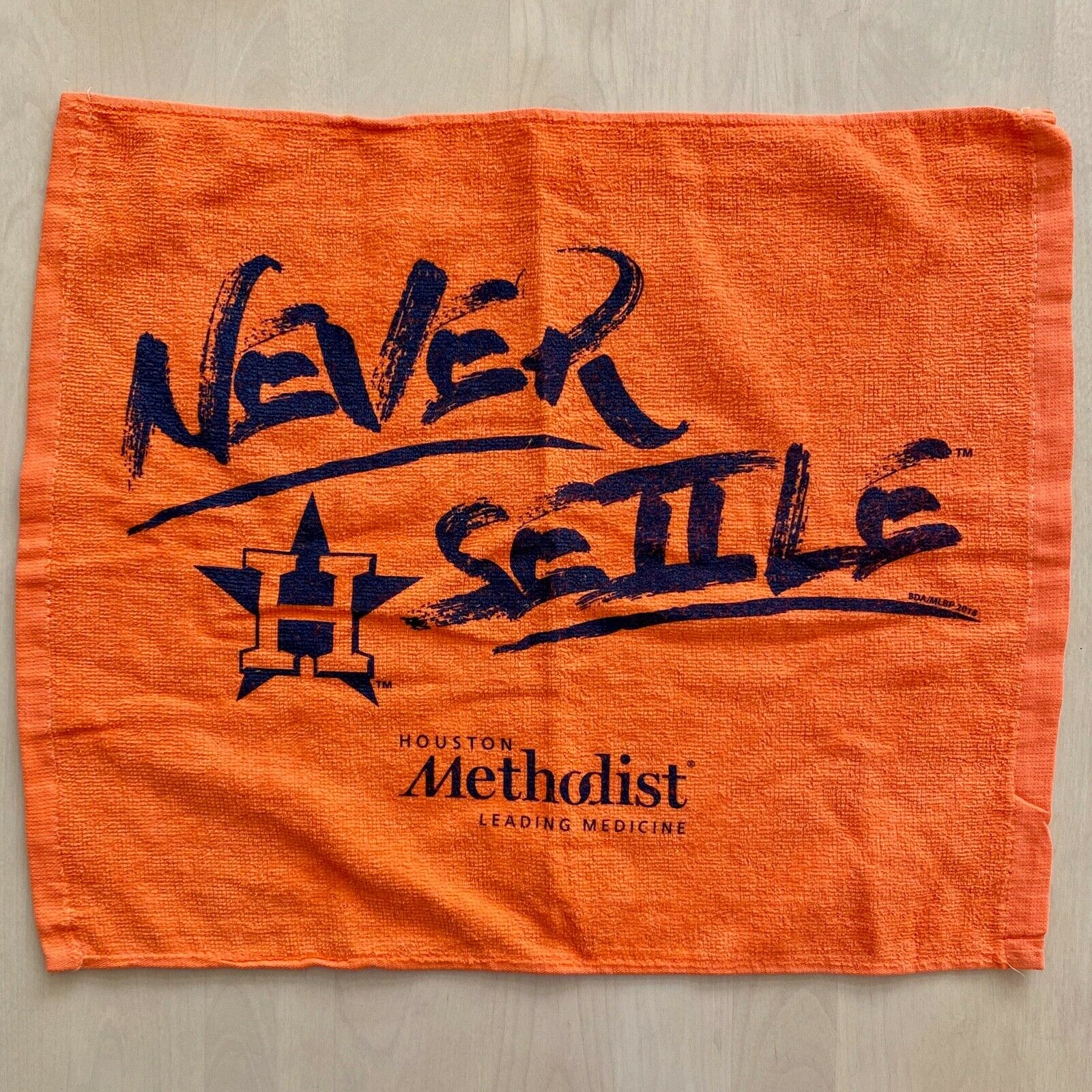 Houston Astros Never Settle Rally Towel 2018 Playoffs SGA Or