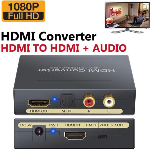 HD 1080P HDMI zu HDMI Optical +SPDIF +RCA L/R Extractor Converter Audio Splitter