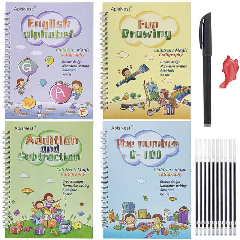 English Magic Practice Copybook Number Book Set Writin Preschooler Pen Reusable