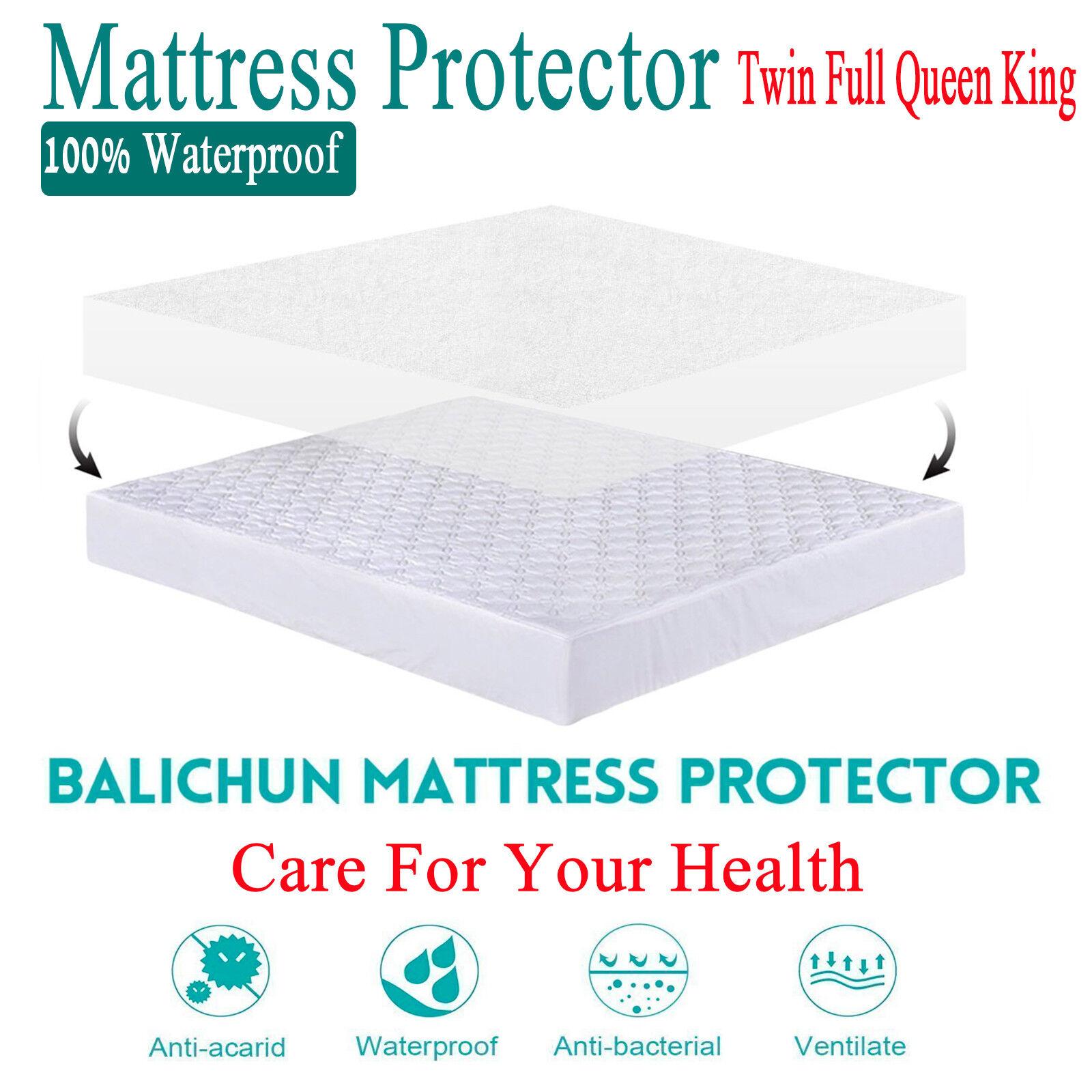 waterproof king queen full size mattress protector