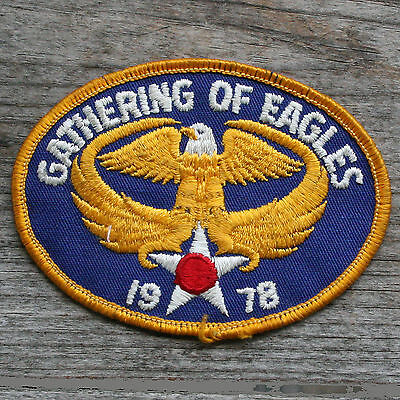 1978 GATHERING OF EAGLES US Army Air Corps Vintage Patch FREE SHIPPING