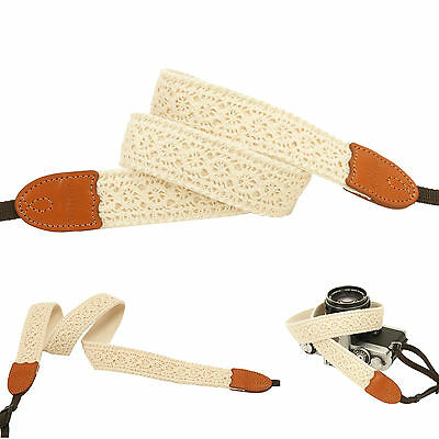 circle lace style Cute Fashion Camera Neck Shoulder Strap for Film SLR DSLR RF