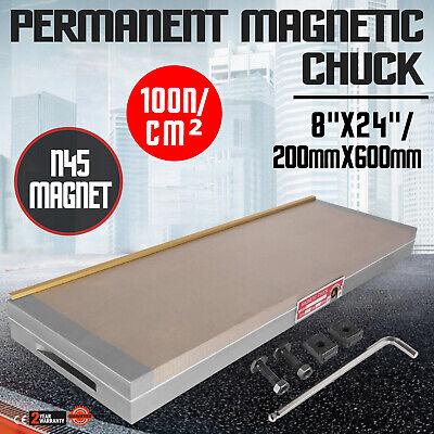 Fine Pole Permanent 8 X 24 Magnetic Chuck Easy To Storage Forging Neodymium
