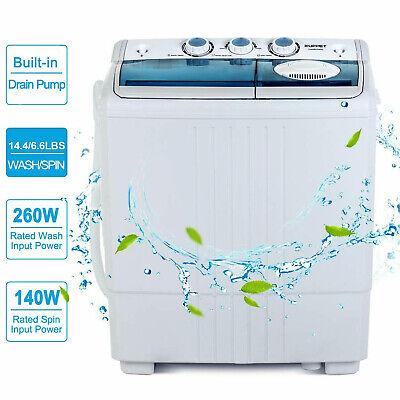 Portable Washing Machine Mini Compact Twin Tub Washer Dryer