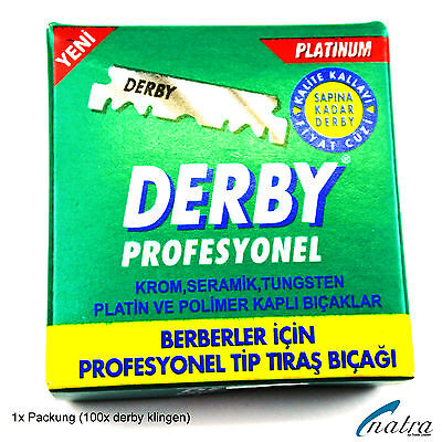 NATRA Rasiermesser 100 Derby Rasierklingen Rasierer Jilet blade Razor Rasur