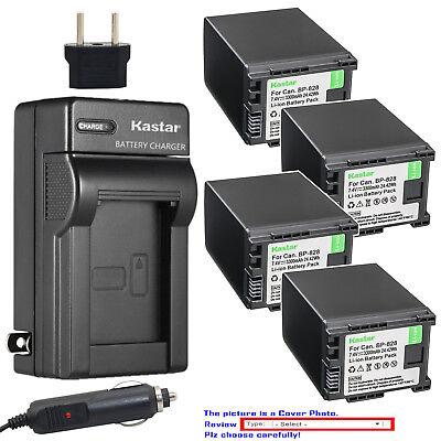 Kastar Battery AC Charger for Canon BP-820 BP-828 & Canon VIXIA HF G30 Camera