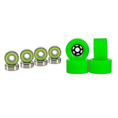 Cal 7 90mm 78A Longboard Flywheel Skateboard Green Wheels + Abec 7  Bearings