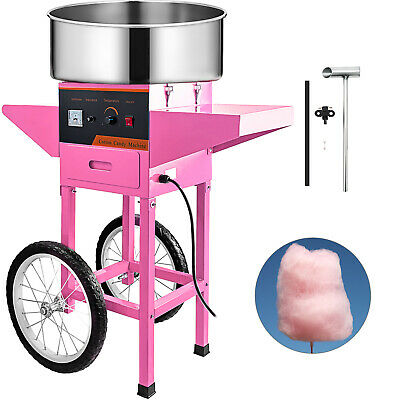 Electric Cotton Candy Machine Pink Floss Carnival Commercial Maker Party Wcart