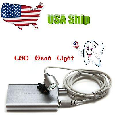 Dental Portable Led Head Light Lamp Battery Pack For Binocular Loupes Magnifier