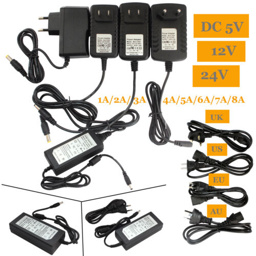 DC 5/6/9/12V 1/2/3A AC Adapter Charger Power Supply for LED Strip Light EU/US Lighting Home, Furniture & DIY