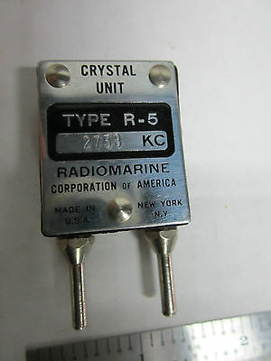 Vintage Radio Marine Quartz Crystal Frequency 2738 Kc