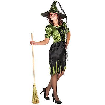 Sexy Witch Hexenkostüm Kostüm Hexe Karneval Fasching Halloween - Grüne Hexen Kostüm