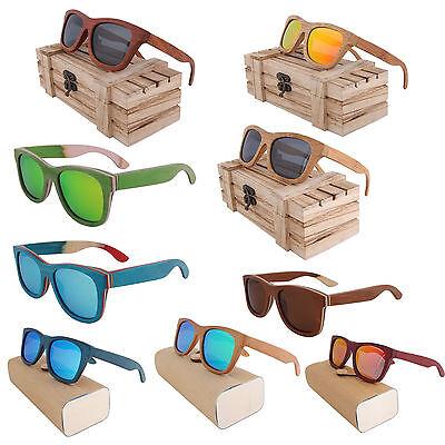 Bambus Holzsonnenbrille Sonnenbrille Unisex Damen Herren 100% Handmade Polarized