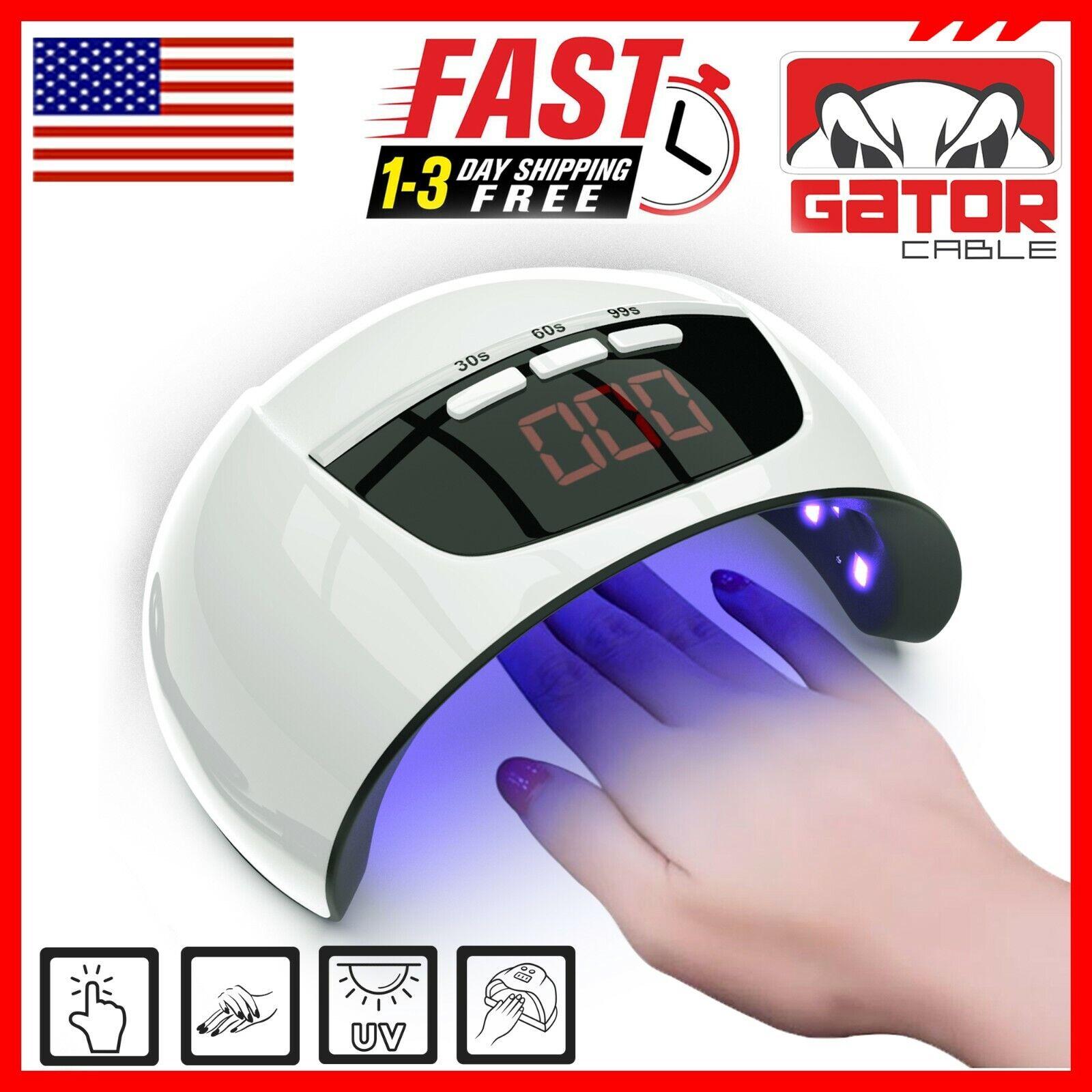 Ultraviolet UV Light LED Nails Gel Polish Dryer Lamp Salon Manicure Curing 54W