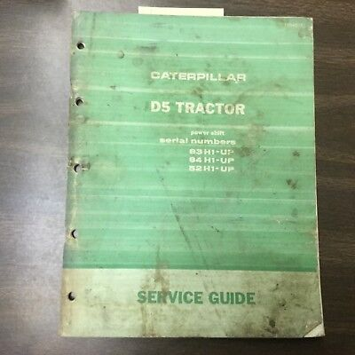 CAT Caterpillar D5 MAINTENANCE MANUAL TRACTOR DOZER SERVICE GUIDE sn 83H 84H 52H for sale  Shipping to Canada