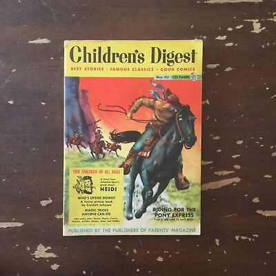 May 1954 Children's Digest Volume 4 Number 38 Riding For The Pony Express