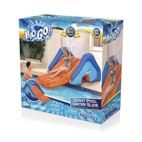 H2OGO! Splash Giant Inflatable Pool Water Slide Outdoor 8ft Play Center Backyard