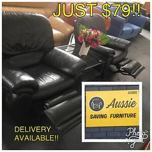 AWESOME VALUE!! GREAT QUALITY BLACK LEATHER RECLINERS NOW AVAILABLE!!! Osborne Park Stirling Area Preview