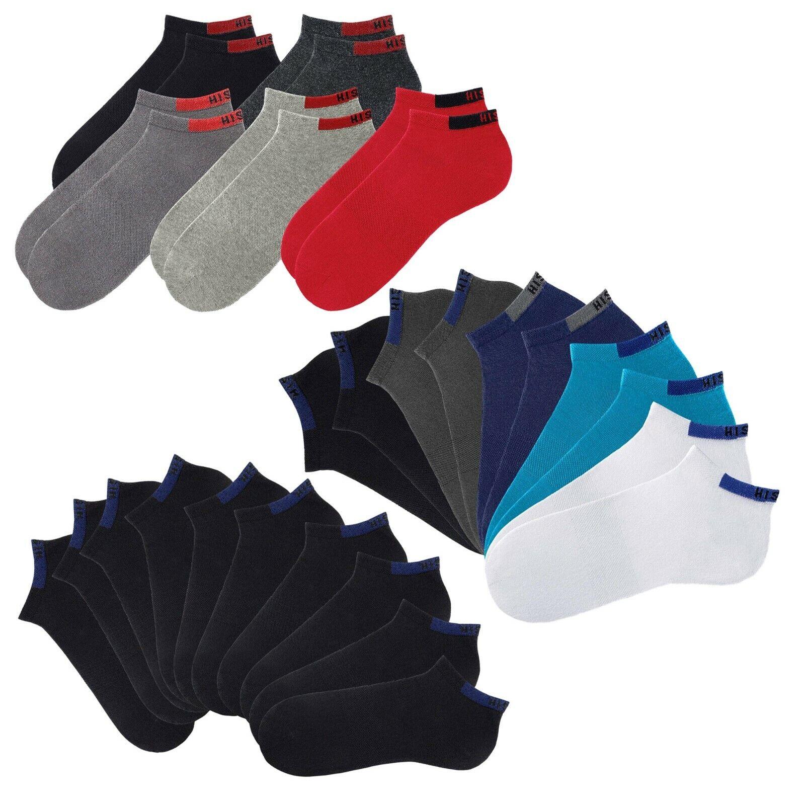 10 Paar Sneaker Socken von HIS, für Damen und Herren, H.I.S Strümpfe, langlebig