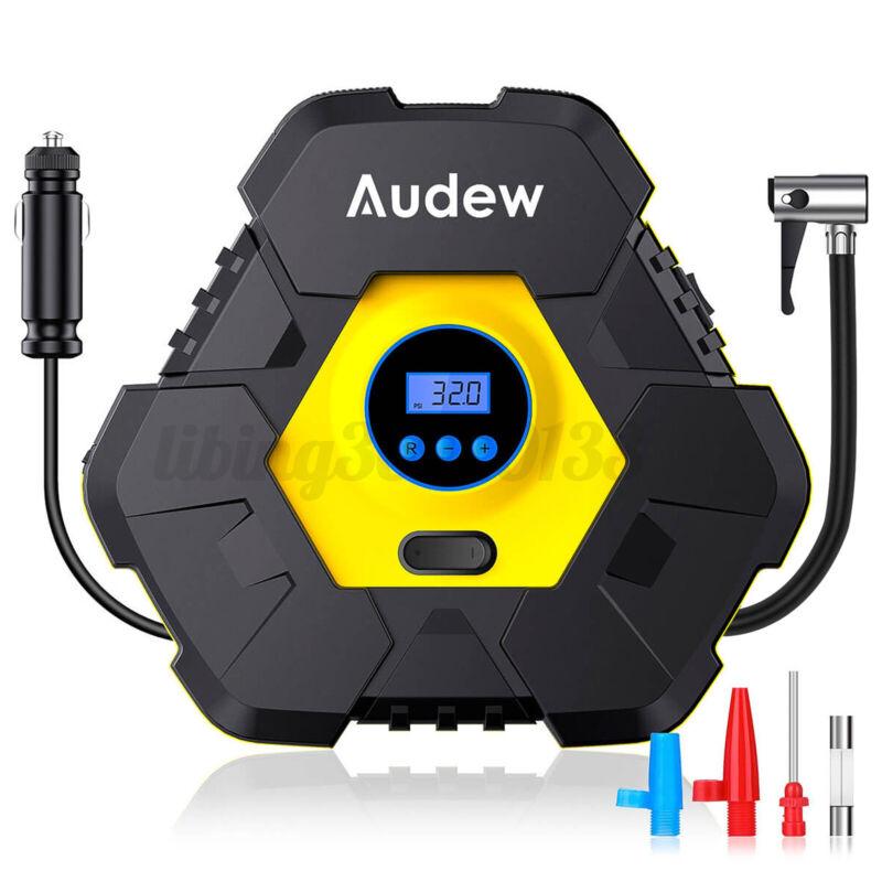 Audew Auto Stop Digital Air Inflator Car Tire Pump Compressor Portable 150PSI