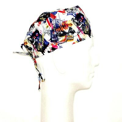 Doctor Who on White Theme Scrub Hat (Doctor On Scrubs)