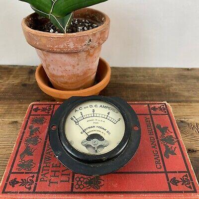 Vintage Eastman Kodak Acdc Amperes Meter Steampunk Gauge