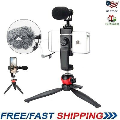 Smartphone Microphone Vlogging Kit for iPhone 11 Pro Max X 8 Plus 7 Plus Samsung