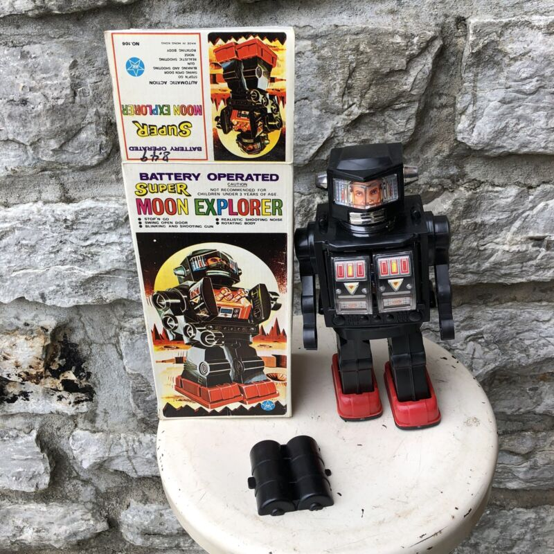 Vintage Horikawa Battery Operated Robot SUPER MOON EXPLORER With Box NOS