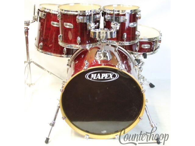 "*Mapex M 22x17, 10x9, 12x10, 16x14 Bass/Toms+14x5""Snare Drum Set 9Ply Maple Lacquer"