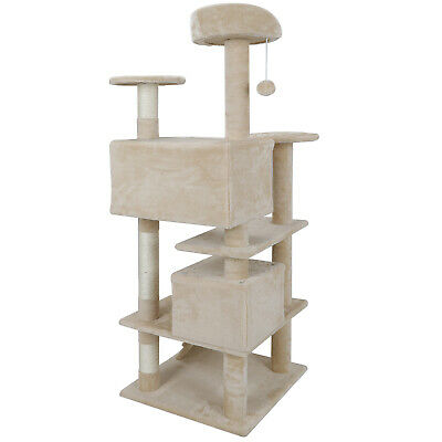 STURDY Cat Tree Tower Activity Center Large Playing House Condo For Rest & -