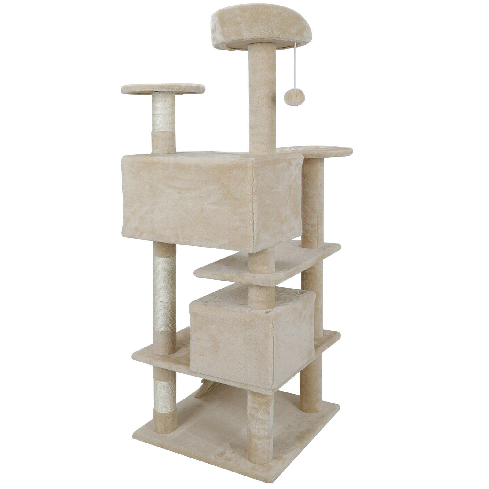 Multi-level 52″ Cat Tree Tower for Multiple Cats W/Sisal Posts, Scratching Board Cat Supplies