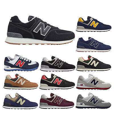 New Balance ML574 Suede Mesh Retro Low-Top Lace-Up Running Shoes Mens Trainers ()