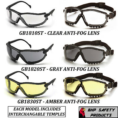 Pyramex V2g Safety Glassesgoggle Hybrid Anti-fog Lens Z87 Choose Your Color