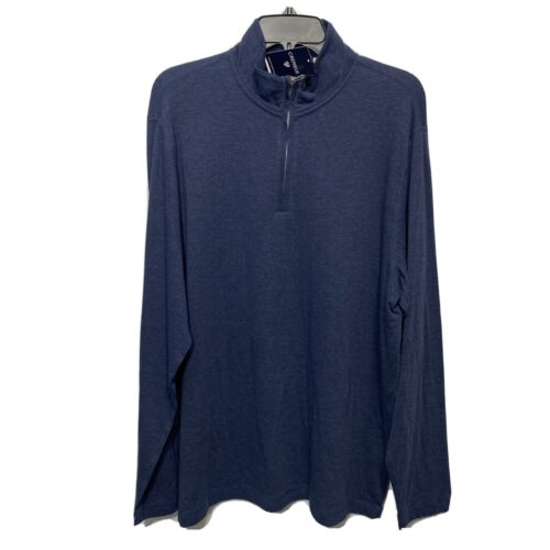 Cremieux Mens Pullover Sweater Sweatshirt XL Long Sleeve Mock Neck Blue Clothing, Shoes & Accessories