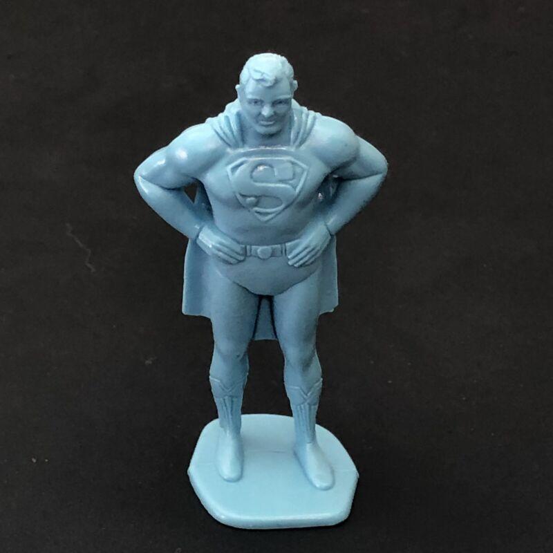 Marx Superman Superhero Comic Book Figure Light Blue. About 60mm